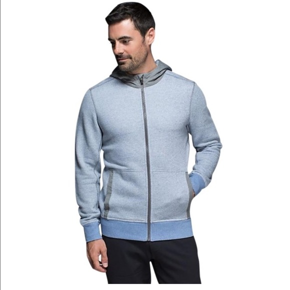 7fc0eccf25 lululemon athletica Other - Men's Blue Le Hoodie Heathered Full Zip Jacket