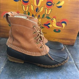 llbean Shoes - Llbean Duck Boots Maine Hunting Shoes black vtg