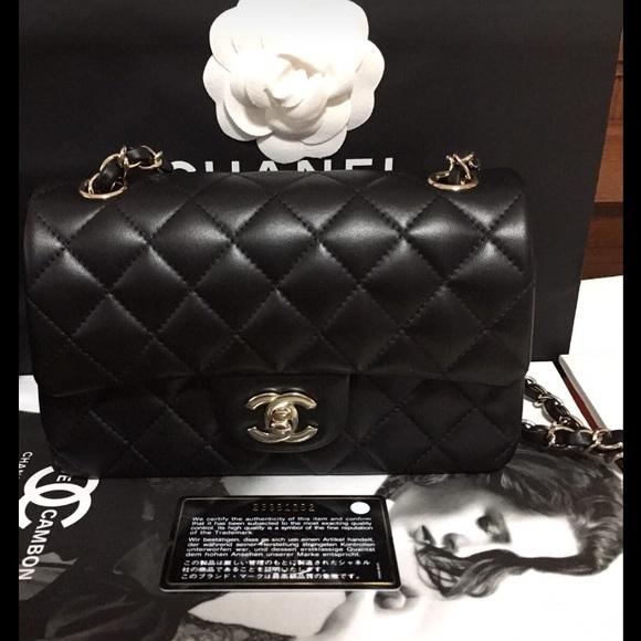 3f9090b7db76 CHANEL Bags | Mini Cf Black And Gold | Poshmark