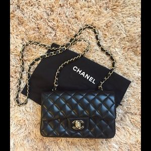 453dcd797942 CHANEL Bags - Chanel mini cf black and gold