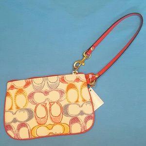 Coach Handbags - NWT Spring Coach Scribble Wristlet
