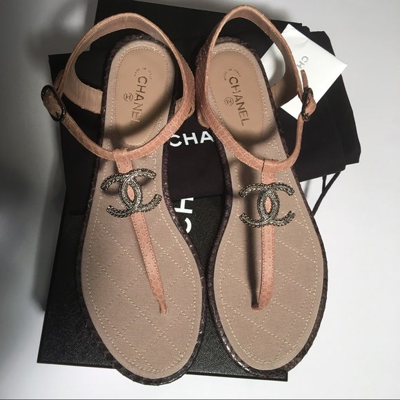 1f3e23c73 CHANEL Shoes | Sold 17c Thong Sandals In Python Skin | Poshmark