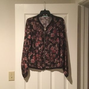 Maurices floral lightweight jacket size M