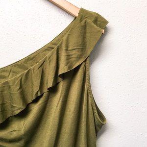 Jennifer Lopez Tops - Olive Green Sleeveless Dress Top