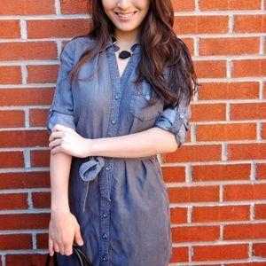 Audrey Denim Shirt Dress