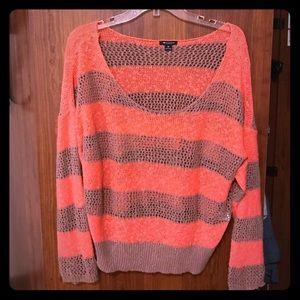 Orange/grey striped I ❤️ Ronson Sweater