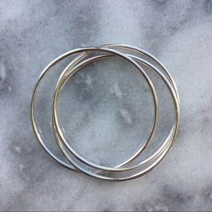 Jewelry - Sterling Silver 3 Piece Interlocking Bracelet