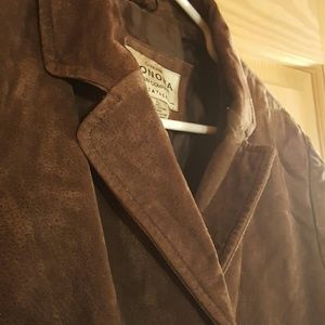 Chocolate Brown Sonoma Suede Jacket