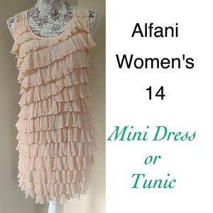 Alfani Dresses & Skirts - ⤵️Alfani Blush Tiered Ruffle Mini/ Tunic 14