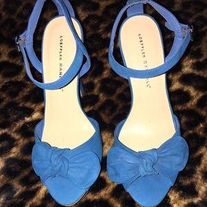 Loeffler Randall Shoes - Loeffler Randall Teal Bow Heels 🔥SALE🔥