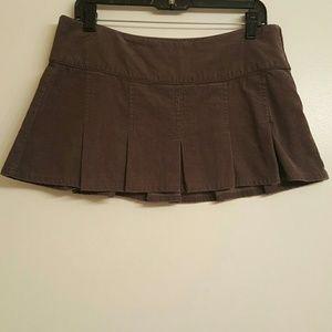 Lilu Dresses & Skirts - Pleated Corduroy Mini Skirt
