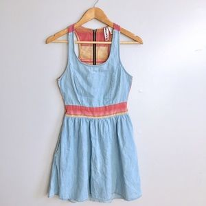 Anthropologie Dresses & Skirts - Racerback Denim Dress