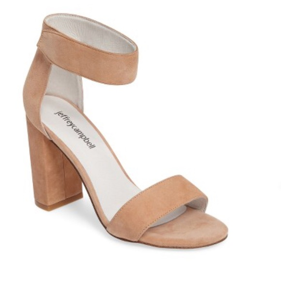 ffa05603736 Jeffrey Campbell Shoes - NEW Jeffrey Campbell Lindsay Sandals Blush Suede 7