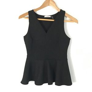 Soprano Tops - Black Fit and Flare Top