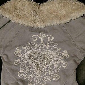 TWISTED HEART Jackets & Blazers - Twisted Heart beaded zip up