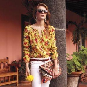 Anthropologie Tops - Anthropologie Postmark Lemonbloom blouse