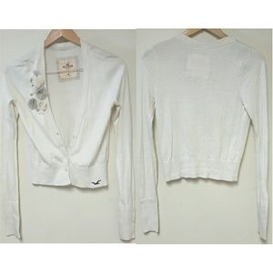 Hollister Sweaters - Hollister White Cardigan