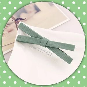 Accessories - Green Bow Hair Clip