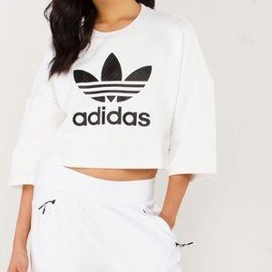 Adidas Tops - ✨HOST PICK✨Adidas cropped sweatshirt