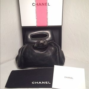 CHANEL Handbags - Authentic Chanel Camellia Clutch with Dust bag Box