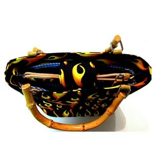 Unbranded Bags - Novelty Flame Printed Purse Rhinestone Accents
