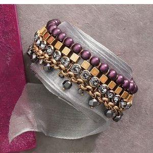 "Silpada Jewelry - Silpada KR Collection ""Blue Violet"" Gold Bracelet"
