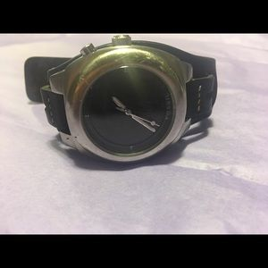 MENS GENUINE FOSSIL LEATHER WATCH
