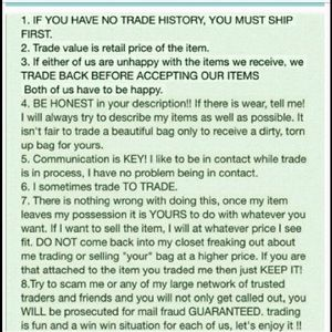 Handbags - Trading rules 😍🍷