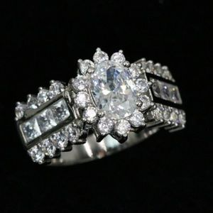 Jewelry - New Platinum Plated  Statement Ring! Size 9.5