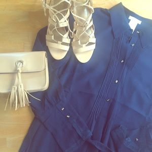 Dresses & Skirts - Navy shirt dress