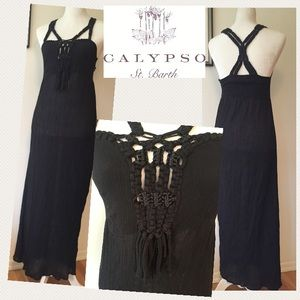 Calypso St. Barth Dresses & Skirts - Calypso St Barth Macrame strap beach Maxi dress