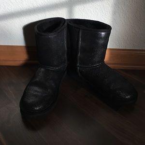 UGG - Black Glitter boots