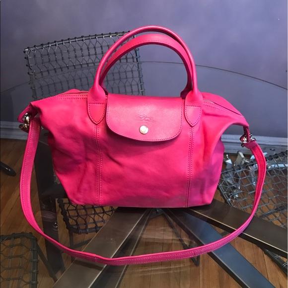 e429b7057b61 Longchamp Handbags - Longchamp Le Pliage Cuir Top Handle Small Satchel