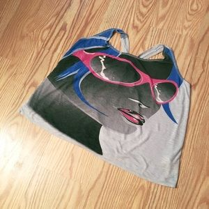 Double Zero Tops - DOUBLE ZERO graphic tank top