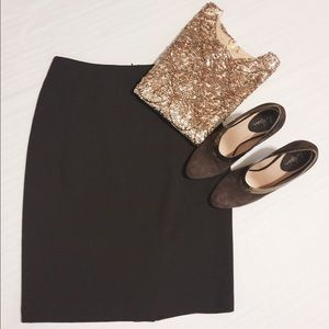 Ellen Tracy Dresses & Skirts - Ellen Tracey Chocolate Brown Midi Pencil Skirt