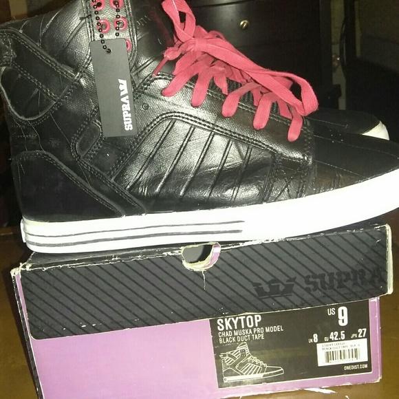 256d32da010 Supra Shoes | Rare Og Skytop Tuf Blk Duct Tape Ltd Edition | Poshmark