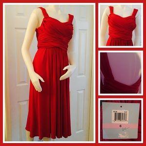 Suzi Chin Red Cocktail Dress 6 NWT
