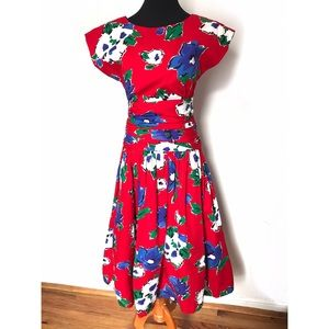 Gorgeous vintage sundress with big bow