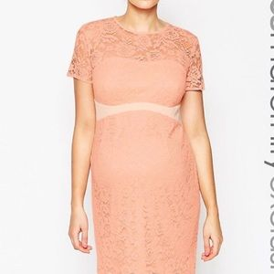 ASOS Maternity Dresses & Skirts - Asos Maternity Lace with Contrast Band