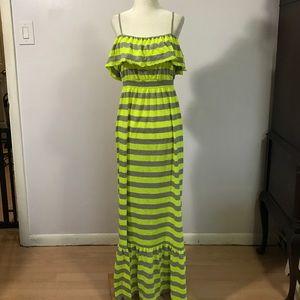 Miken Dresses & Skirts - Miken Striped Maxi Dress- Med