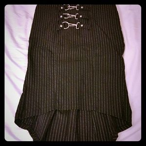 Lip service Dresses & Skirts - Black pencil skirt with white stripes. Size small
