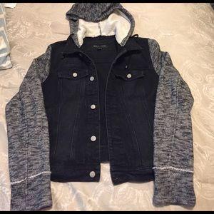 Black Rivet Jackets & Blazers - Women's jean jacket w/ hood