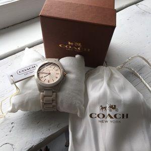 Coach pale blush, rose gold, ceramic watch