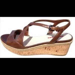 Prada wedge sandals Size 40.5. Great condition!