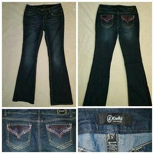 Rewash Denim - Crystal bling dark wash Rewash Jeans sz 5 nwot