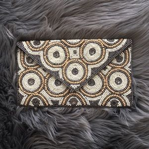 Handbags - Beaded Envelope Clutch