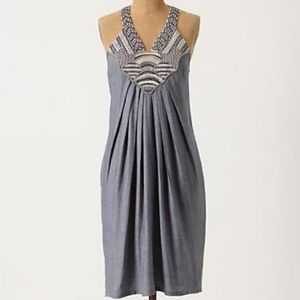 Anthro chambray dress