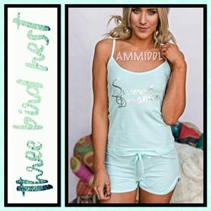 Three Bird Nest Other - 🆕SWEET DREAMER PAJAMA SET in Mint