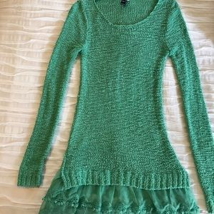 Anthropology Windsor Mint Green Sweater