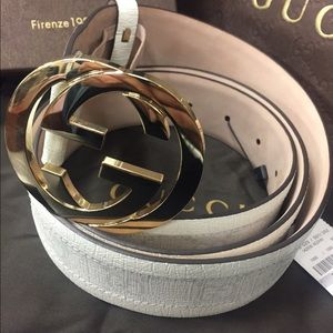 Gucci Other - Authentic NWT Gucci White Monogram Belt